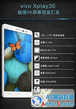 6.0英寸491ppi vivo Xplay3S屏幕大揭秘