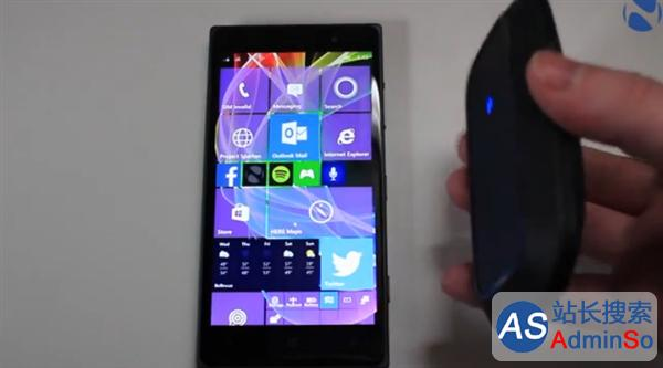 Windows 10手机连接鼠标成功!