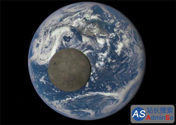 月球飞掠地球 罕见动图