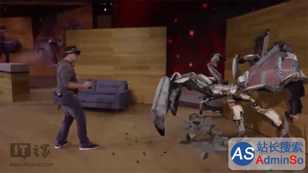 HoloLens演示Project Xray增强现实游戏 微软Win10新品发布会
