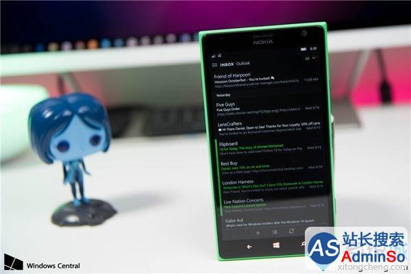 暗黑主题被强化 设置页面首出现 Win10 Mobile/PC版《邮件和日历》获更新