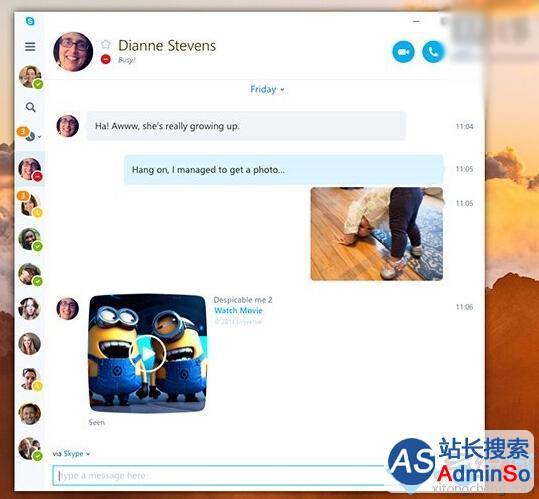 提供更新颖通讯服务 Win10红石版带来全新UWP版Skype