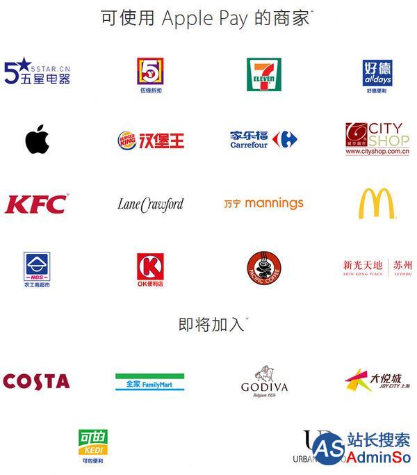哪些门店可以用Apple Pay