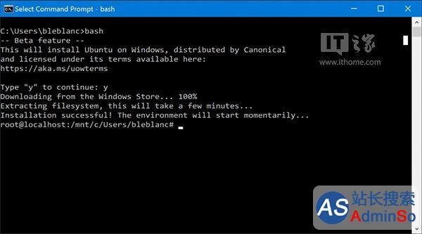 Win10使用进阶:一周年更新14316如何开启Linux Bash命令行