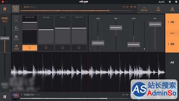 炫酷界面符合人机工程学,由专业DJ研发,回馈广大DJ用户