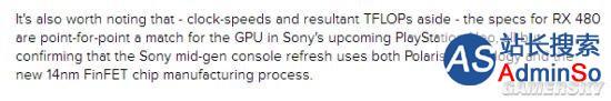 索尼PS Neo再次确认:显卡性能直逼AMD Radeon RX480