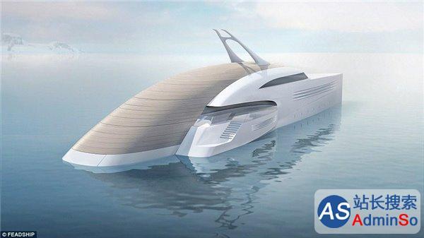 搭载海岛屋+双人无人机 荷兰展示概念游艇