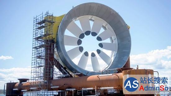 芬迪湾首次利用潮汐发电,可供500户用电 加拿大之最