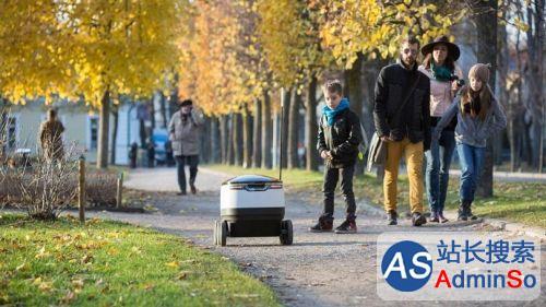 每天10单,尚需人工操控 美国两城市开始测试机器人送外卖