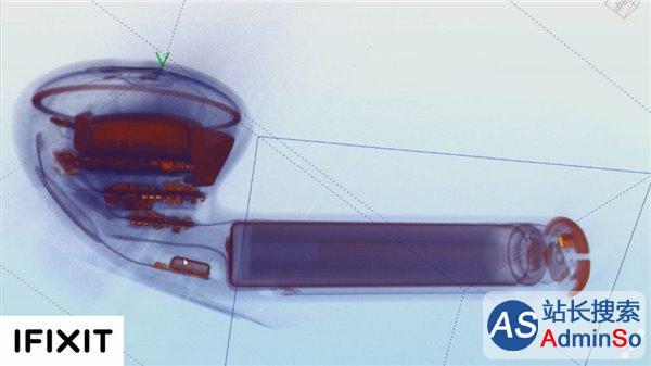 900张X线图像合成 这张苹果AirPods照片有点不同