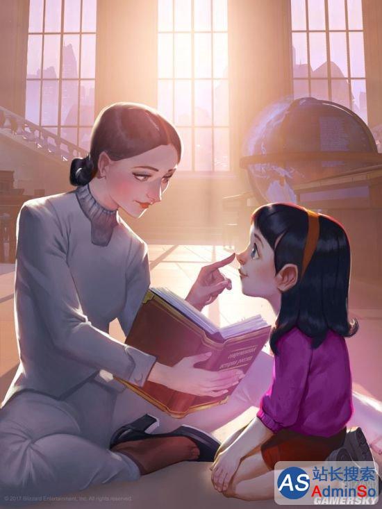 母女温情对视 《守望先锋》动画《渗透》插图公布