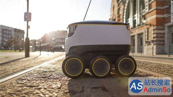 美国外卖公司开始测试用机器人递送短距离订单