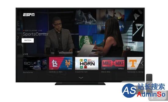 增加新功能改名字 ESPN带来全新tvOS App