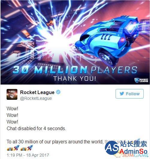 主机平台最热游戏:《火箭联盟》注册玩家超3千万!