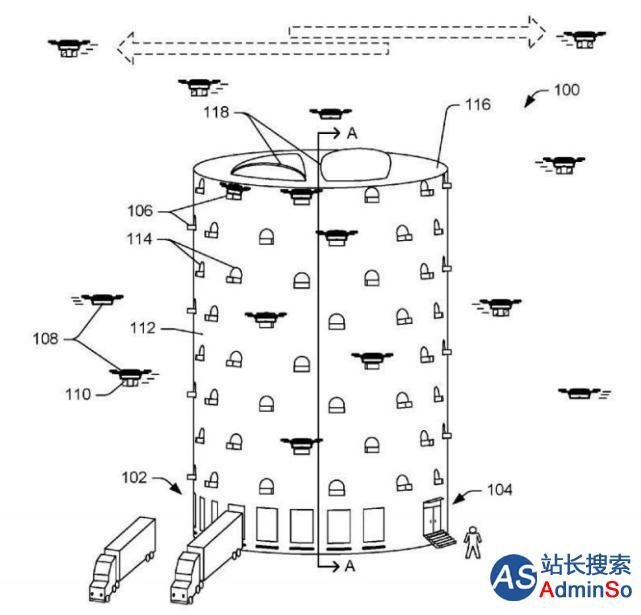 亚马逊拟构建巨大无人机塔 可加速送货 已申请专利