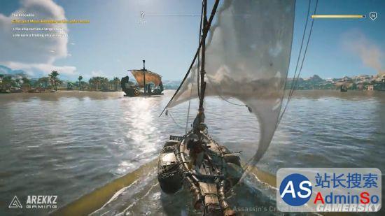 《刺客信条:起源》新实机演示:水下肉搏大河马