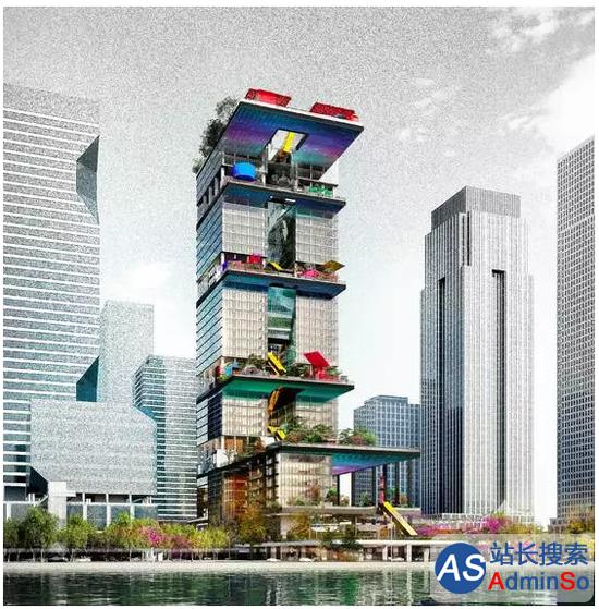 微信总部大楼设计图曝光:拟建39层大楼高度207米