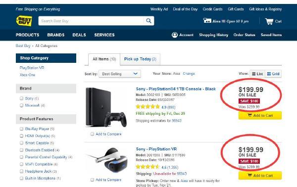 """""""黑五""""力度大:PS4+PSVR不到400刀就搞定"""
