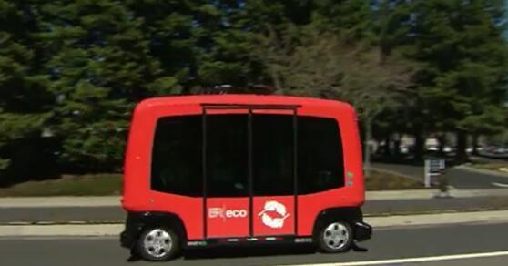 美国加州首次测试无人驾驶公交车:旨在缓解停车难问题