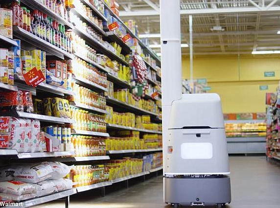 沃尔玛推出货架机器人,90秒就能扫完一组货架