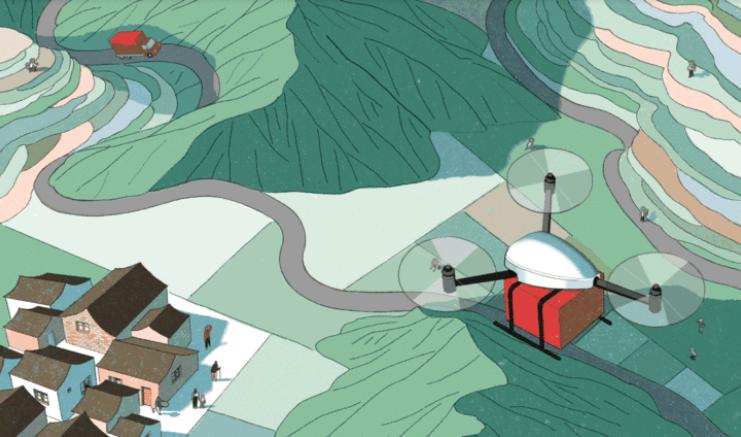 从村口小卖铺飞跃到无人机:电商这样改变中国农村