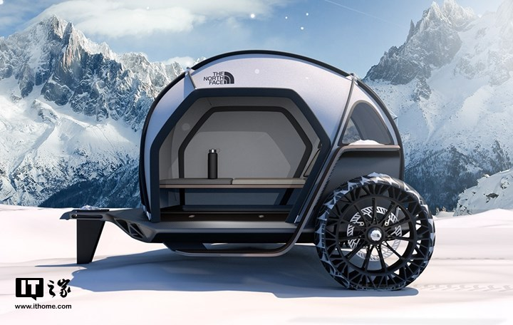 宝马和TheNorthFace合作:展示织物外壳的概念露营车