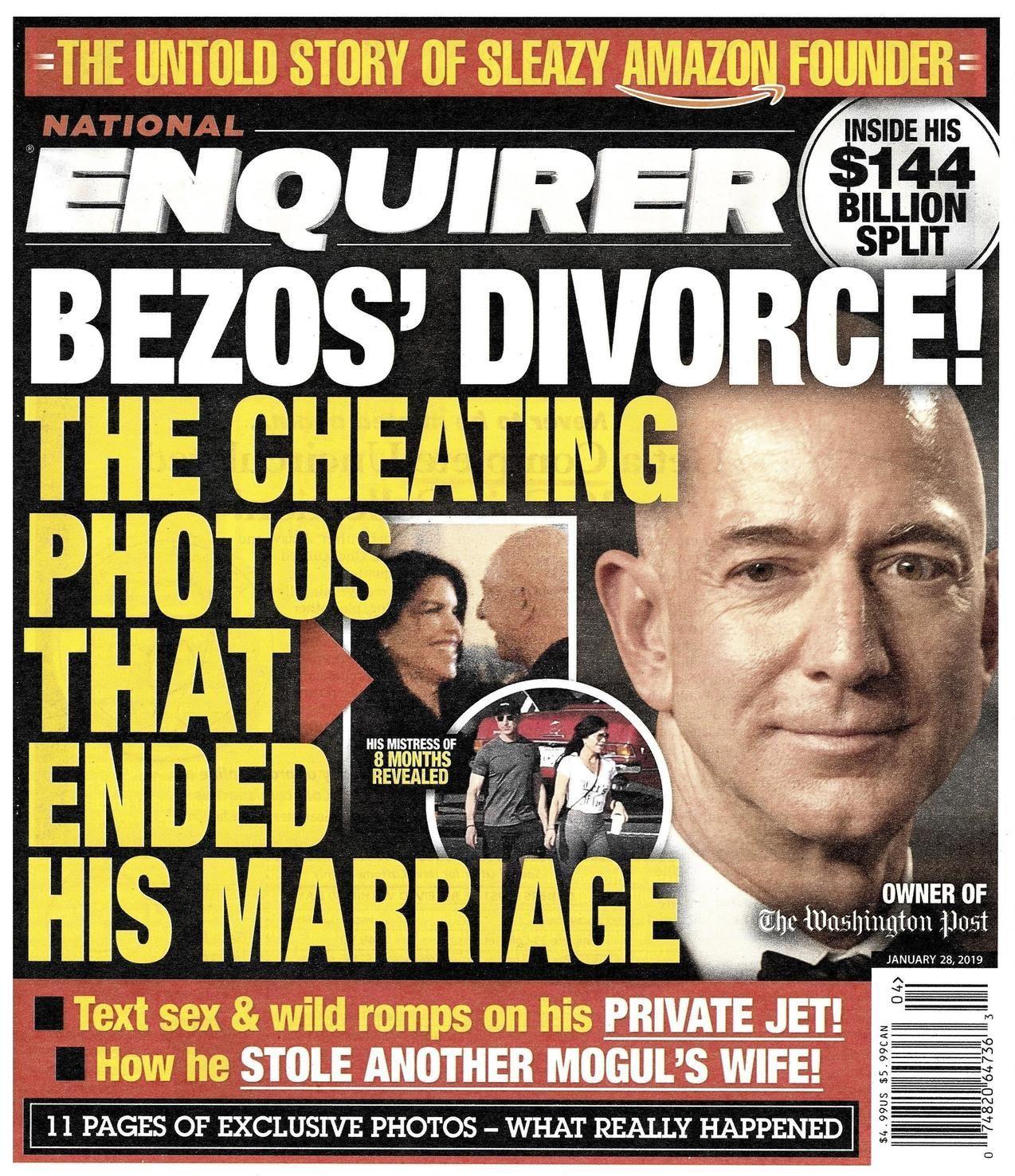谁把贝索斯裸照卖小报?他情人的哥哥,赚了20万美元