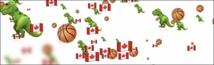 苹果主页全屏小恐龙乱飞!庆祝多伦多猛龙夺得NBA冠军!