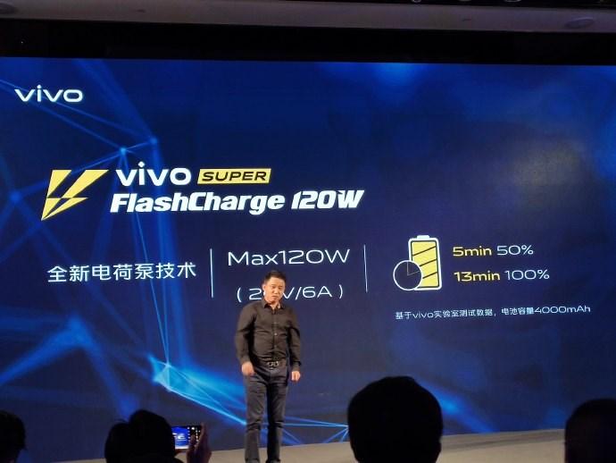 vivo正式公布120W超级闪充:4000mAh从0到50%仅用5分钟