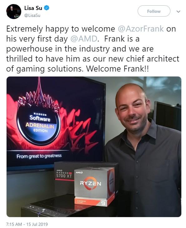 Alienware联合创始人正式加入AMD任首席游戏架构师