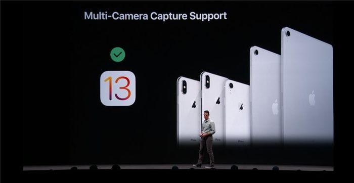 苹果iOS13/iPadOS新增加多摄像头同步开启功能