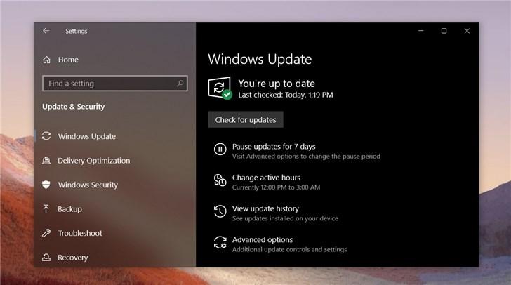 微软2019Windows10更新五月版18362.418正式推送