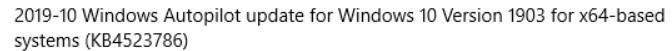 微软错误推送Windows10补丁KB4523786,建议用户忽略