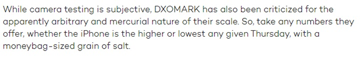 "DxOMark遭外媒""diss"":收费优化和评分方式均不合理"
