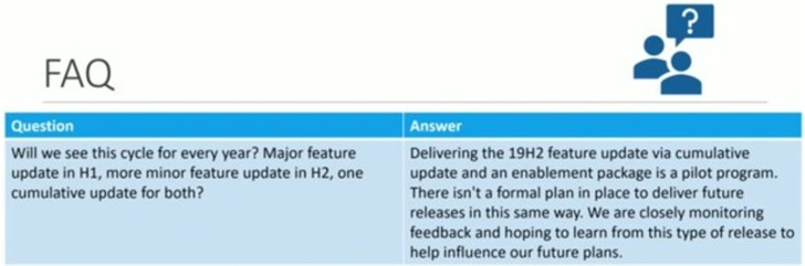 不要再期待像Windows10版本1909这样的小更新了