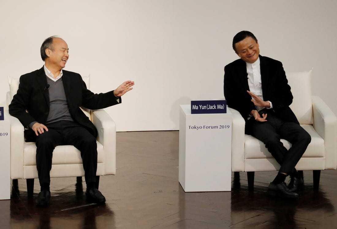 与马云对话,孙正义:我将坚持依赖直觉投资