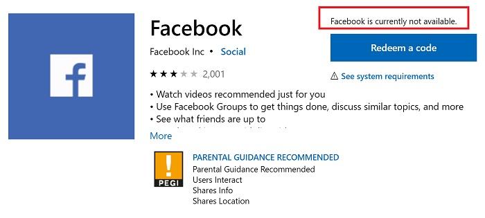 FacebookUWP客户端,再见!