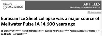 海平面仅用四百年上升十多米
