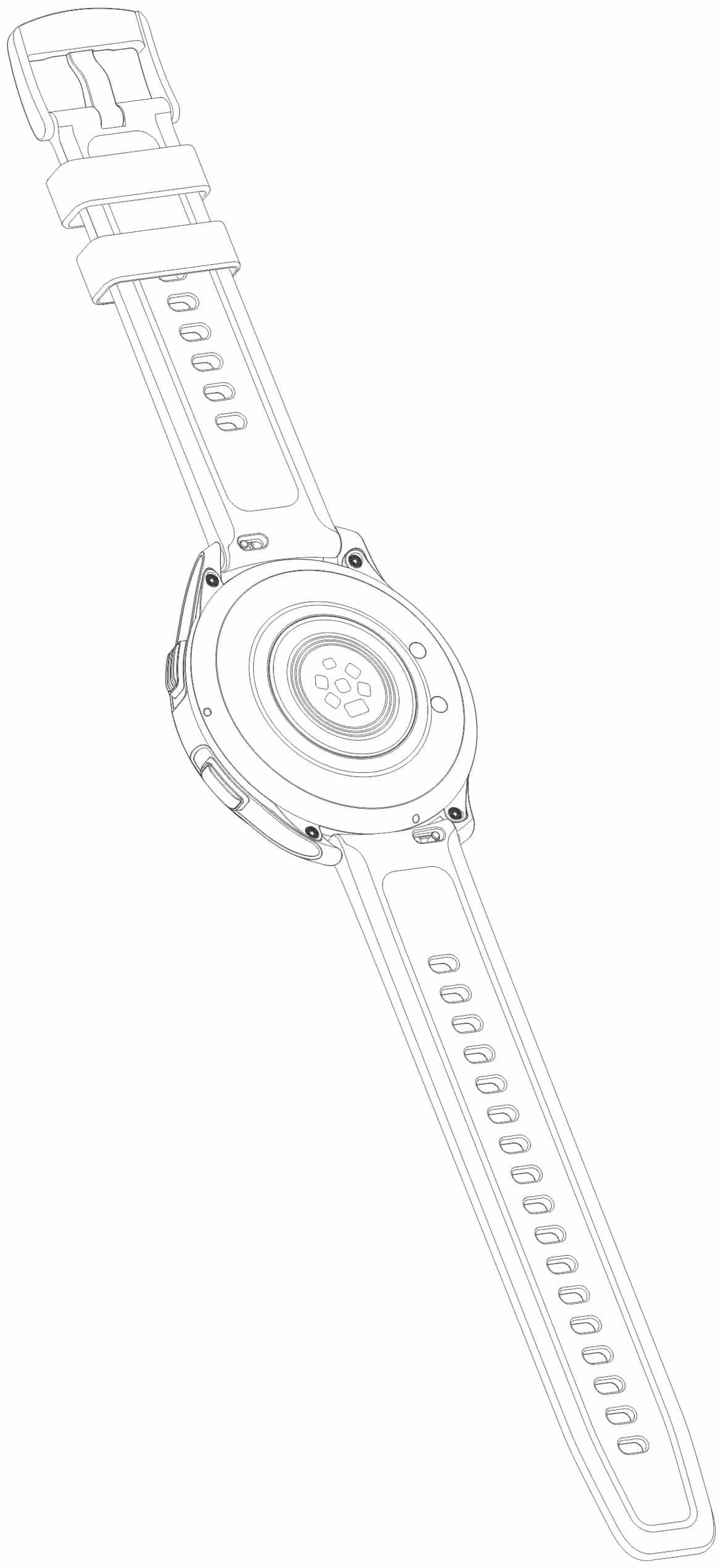 vivo智能手表专利图曝光圆形经典设计运动手表