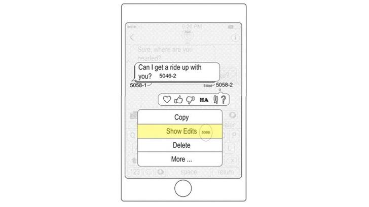 苹果新iMessages专利:对已发送消息进行重新编辑