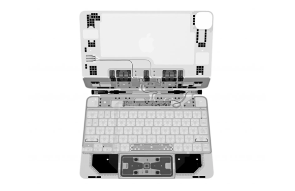用X光看穿苹果触控板妙控键盘:蝴蝶又被抛弃回归经典剪刀脚