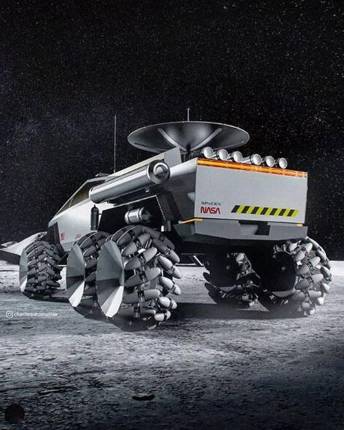 特斯拉Cybertruck的月球车长什么样?网友给出了答案
