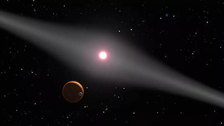 NASA行星搜寻探测器发现一颗隐藏在残骸盘中的行星