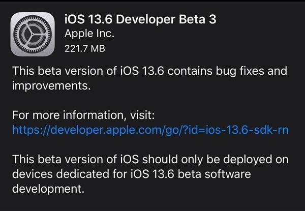苹果开始公测iOS13.6:修复Bug为iOS14做准备!