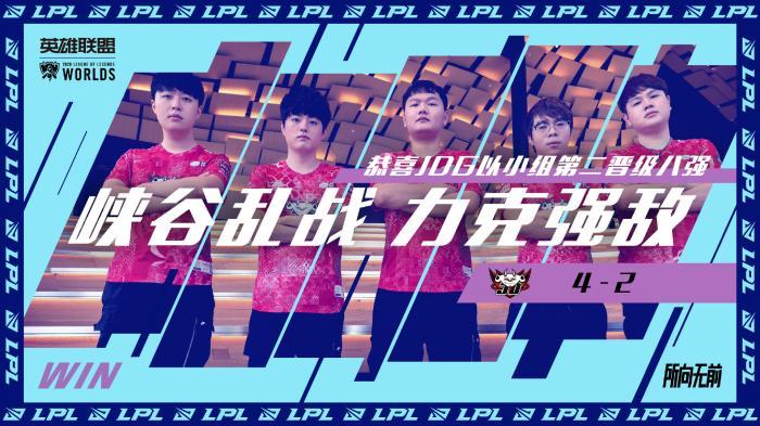 英雄联盟全球总决赛LPL战队JDG小组第二晋级八强