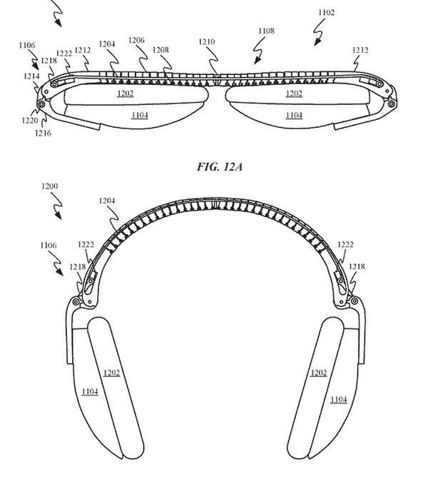 苹果新专利曝光与AirPodsStudio头戴式耳机有关?
