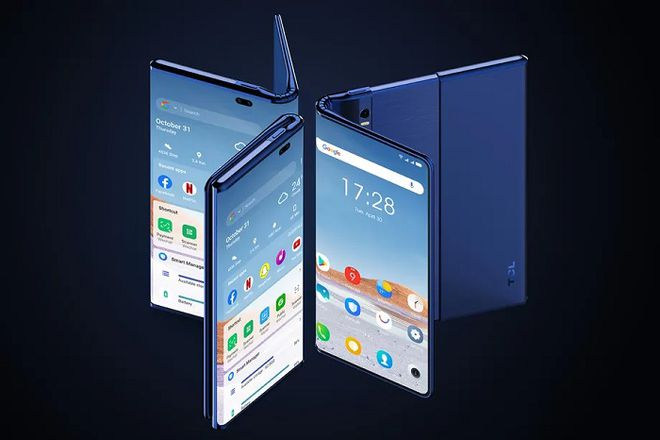TCL放出新机概念图:6.87英寸手机变身10英寸平板