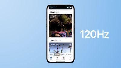 苹果iPhone13Pro上大多数第三方App动画被限制为60Hz